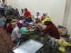 Langar Sewa on the first day